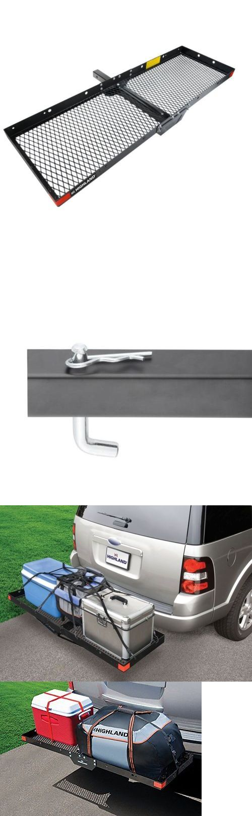 Camping Storage 181390: Cargo Carrier Hitch Mount Receiver Luggage Rack Travel Camping Gear Suv Rv 2 In BUY IT NOW ONLY: $76.94