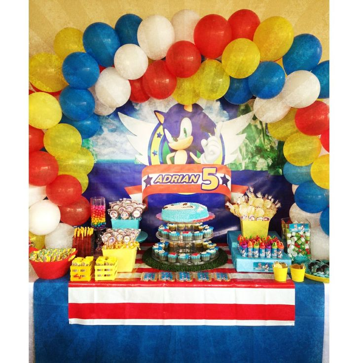 Birthday Party Ideas Sonic X Birthday Party Ideas