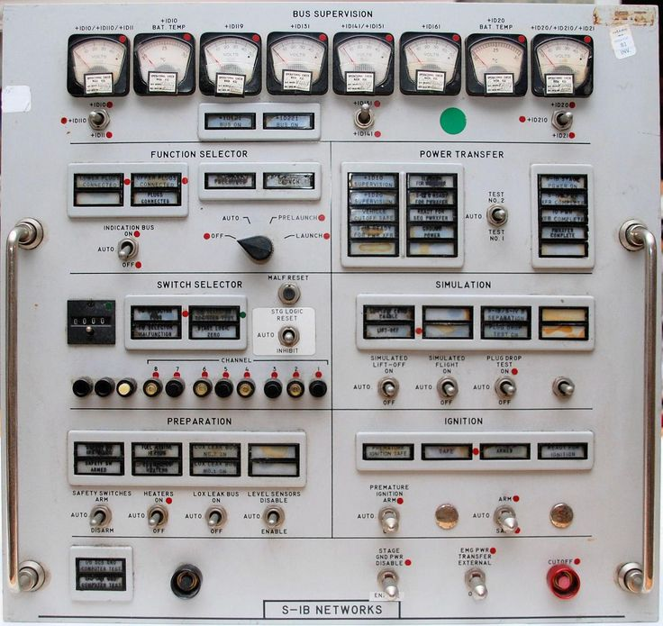 Saturn I-B control panel from an Apollo-era Firing Room