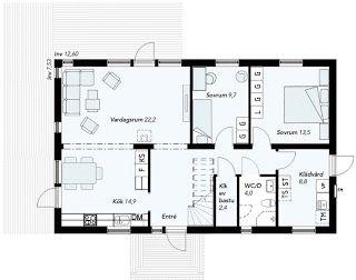 -= Vi byggar Villa Kalmar från Smålandsvillan =-: Planlösning på vårt Kalmar hus.