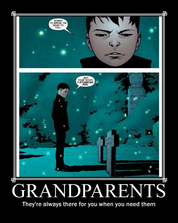 Damian's Grandparents by OtakuSapien.deviantart.com on @DeviantArt