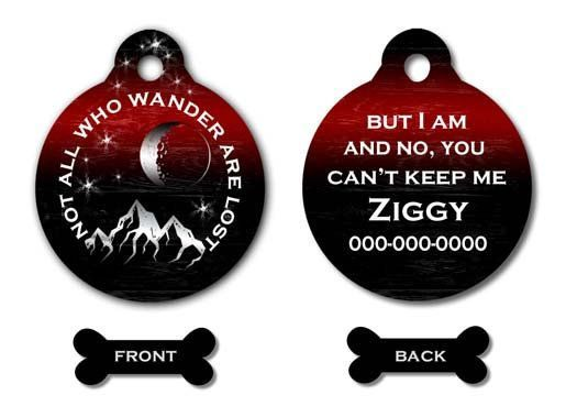 Pleasing Dog Id Tag Mountain Dog Tag Moon And Stars Pet Id Tag For Download Free Architecture Designs Intelgarnamadebymaigaardcom