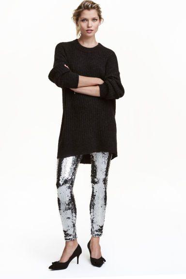 L2017 Cekinowe legginsy - Srebrny - | H&M PL