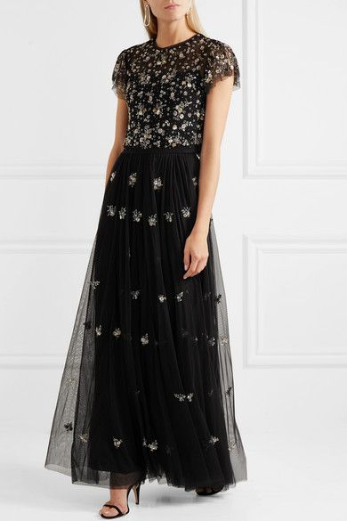c0f7c24c571 Needle   Thread - Lumiere embellished tulle maxi skirt