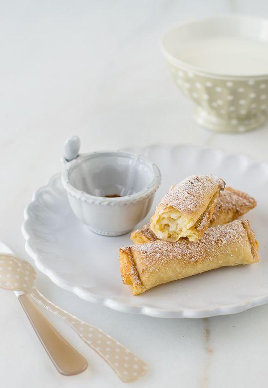 Bourekakia - Pasteles de arroz con leche {Recetas Carnaval} - Megasilvita