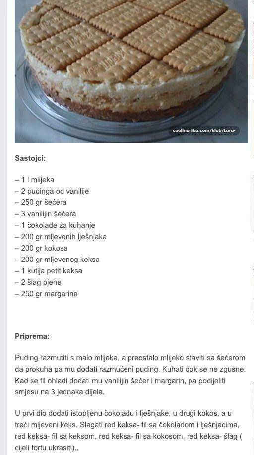 Torta keks-kokos