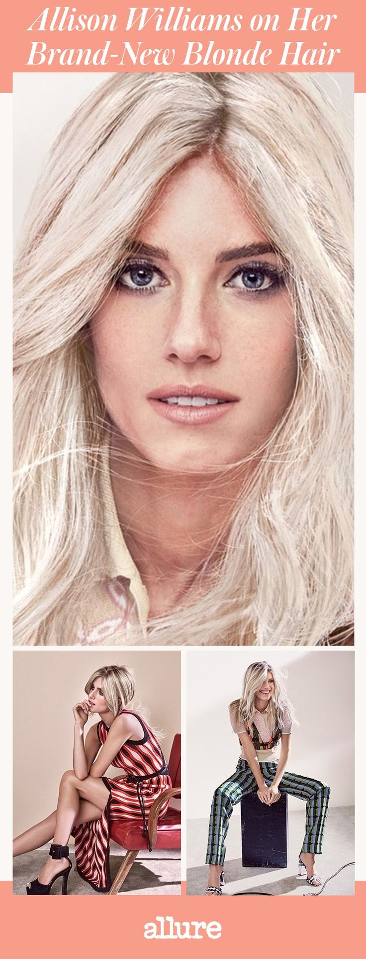 Allison Williams Just Went Platinum Blonde (with A Hint Of Rose Gold) And  It's