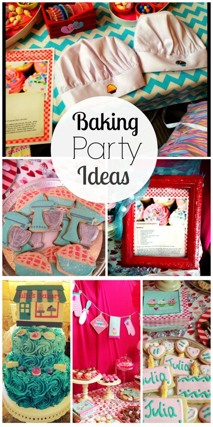 Great ideas for a baking girl birthday party! See more party ideas at CatchMyParty.com.