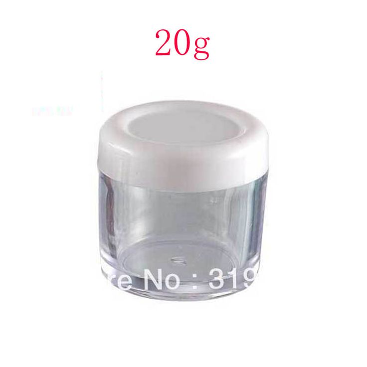 20g empty plastic container with lids,mask PS  jar,cream cosmetic bottle,clear sample jars ,plastic container small wholesale #Affiliate