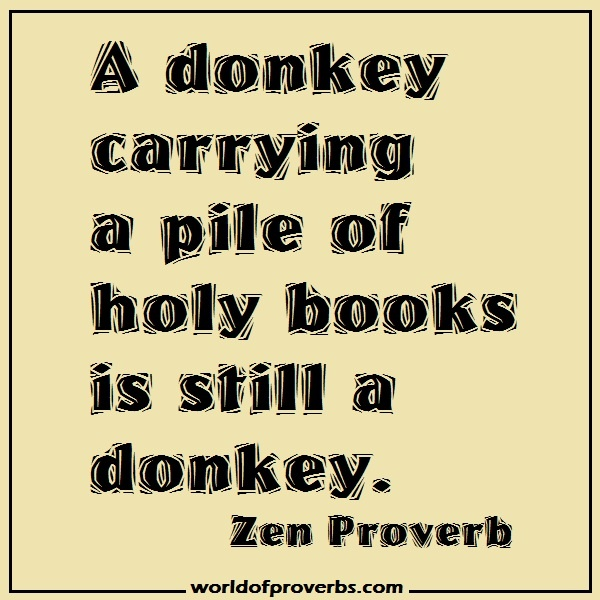 World Of Proverbs Famous Quotes A Donkey Carrying A
