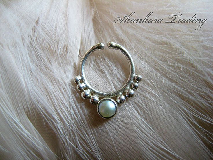 Fake Septum Ring with Pearl