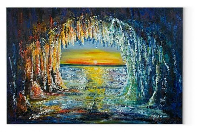 eishohle eishohlen kunstwerke kunstdruck bilder auf leinwand günstig kaufen hochformat