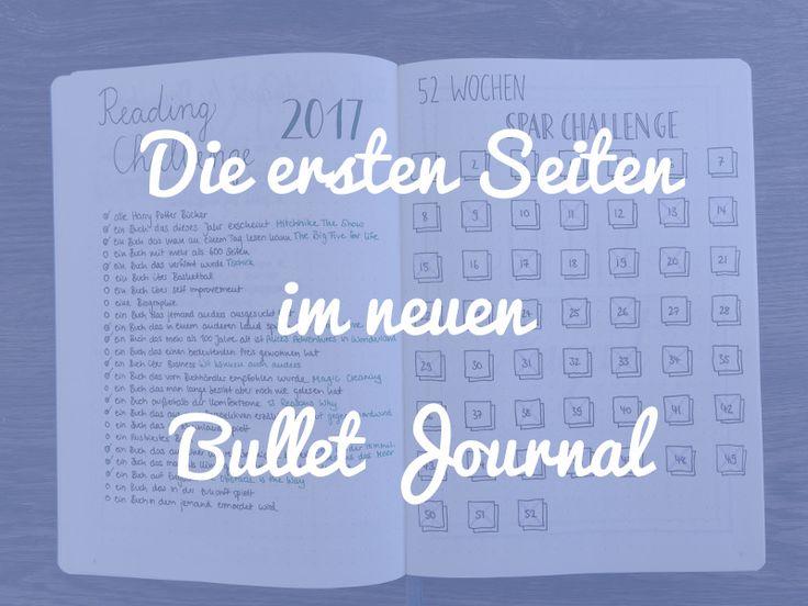 Du startest bald in ein neues Bullet Journal? Hier findest du 6 Möglichkeiten, wie du die ersten Seiten gestalten kannst, um optimal zu starten!
