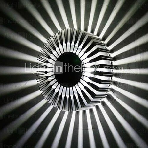 3W Contemporary Led Wall Light with Scattering Light Design UFO Round Palisade Body   LightInTheBox