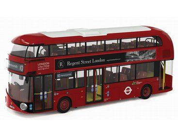 The Corgi 1/76 New Routemaster, London United 10, Hammersmith is a superbly detailed diecast model bus in the Original Omnibus collection.