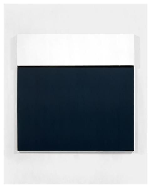 Ellsworth Kelly, White over dark blue, 1966/68