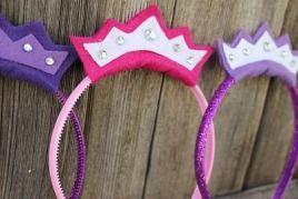 Tutorial: No-sew princess crown headband · Sewing | CraftGossip.com