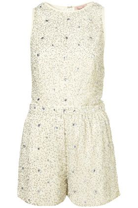 Sparkly playsuit... get in my closet!