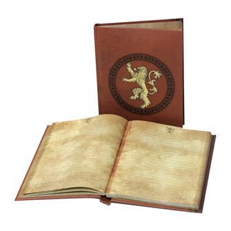 Game of Thrones Lannister Illuminated Notebook: HBO Shop Europe