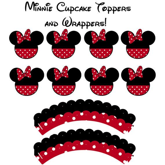 25 best ideas about cupcake wrappers on pinterest for Minnie mouse cake template free