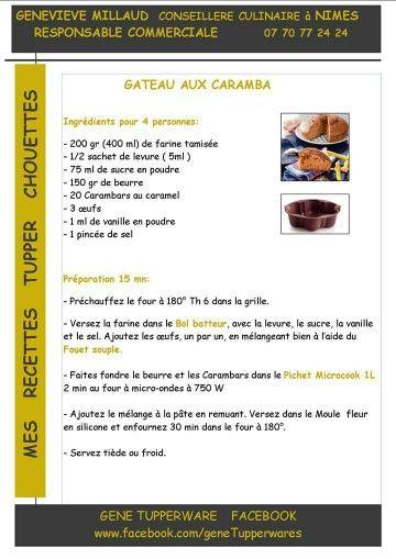 Tupperware - Gateau aux carambars