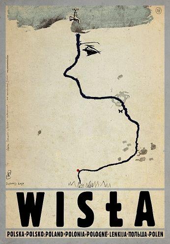 Wisła, polski plakat turystyczny