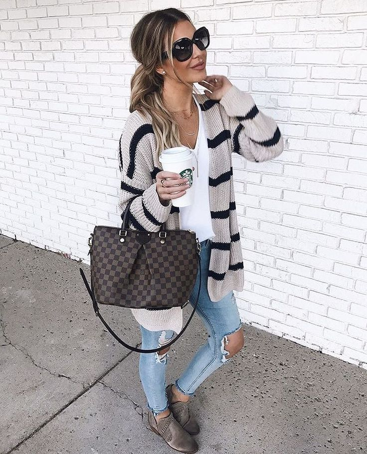 @holliewdwrd being casual and cute in our cardi #WindsorGirl Link to cardi in sweater.