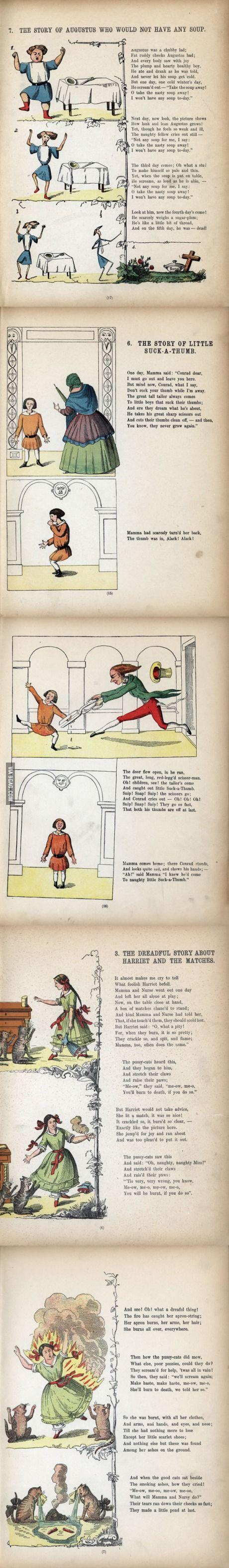 Struwwelpeter, a German children's book from 1845