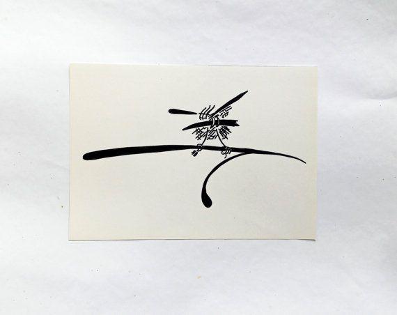 Original drawing Graphics Mosquito Black White от KseniaArtDesign
