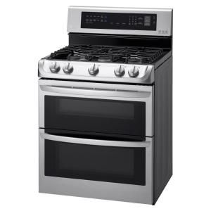 LG Electronics, 6.9 cu. ft. Gas Double Oven Range with ProBake Convection in Stainless Steel, LDG4313ST at The Home Depot - Mobile