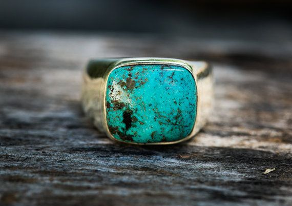 Turquoise Ring  Turquoise Mens Ring size 11.5  by NaturalRockShop