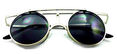 Circle T Flip-Up Sunglasses - 267 Silver