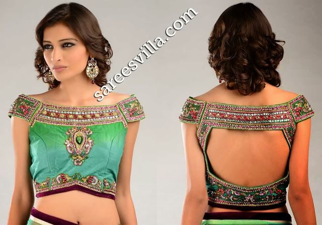 Off Shoulder Saree Blouse Designs | Sarees Villa