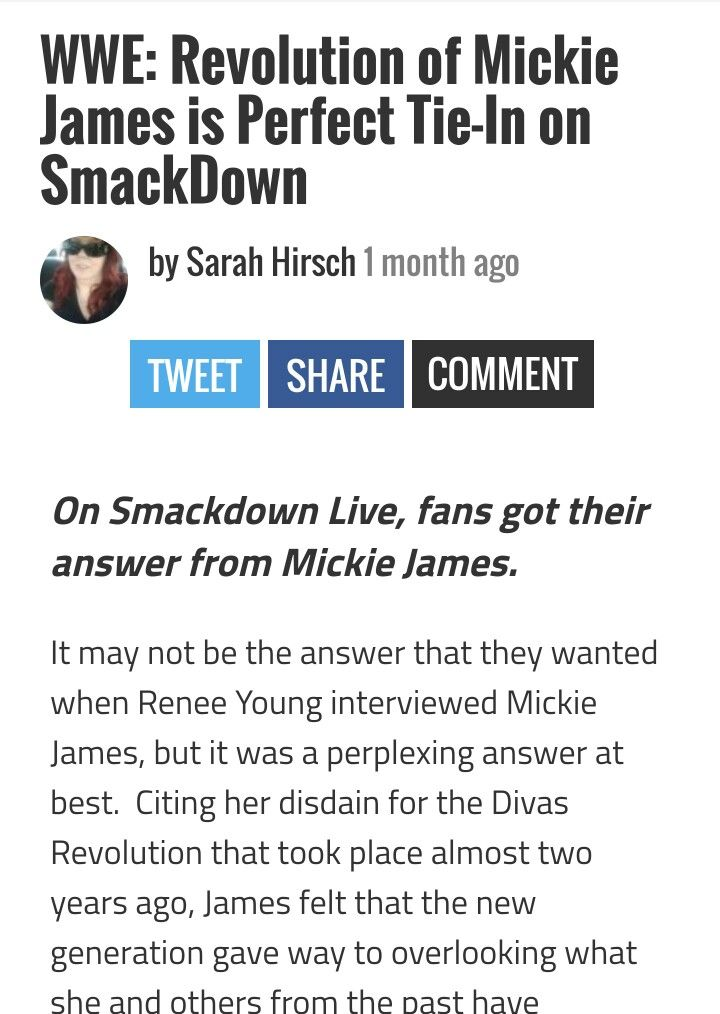 WWE: Revolution of Mickie James is the Perfect Tie-in on Smackdown