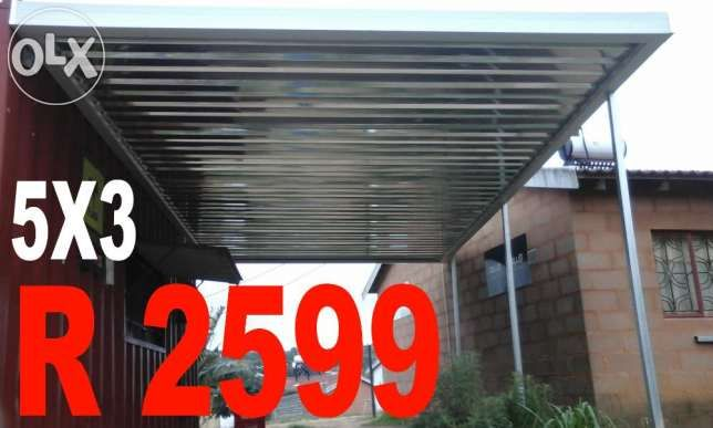 R  2,599: www.roofsheetingkzn.co.za  We sell all types of Roof sheeting, steel, awning, carport materials Direct to the public ... Do it your self and save thousands of Rands  Carport material examples ON ...