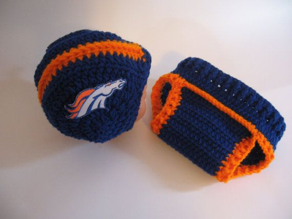 Denver Broncos Helmet and Diaper Cover Set by AWorldCreated