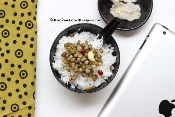 Mung bean stew.  (Green gram rasam from Indian cuisine) (Muga saaru in Konkani)   Green gram is high in protein, they're nutritious & wholesome. This mung bean stew with a bowl of rice is my favourite meal. It's easy to put together too.