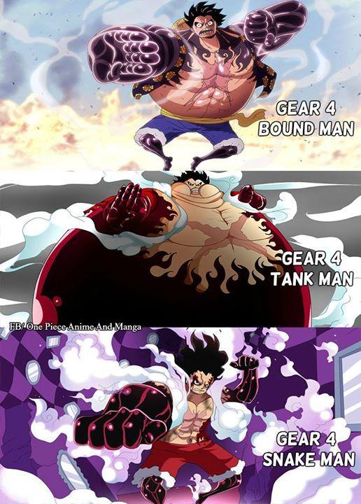 Luffy '' Gear 4 '' Transformations (Y) #ONEPIECE