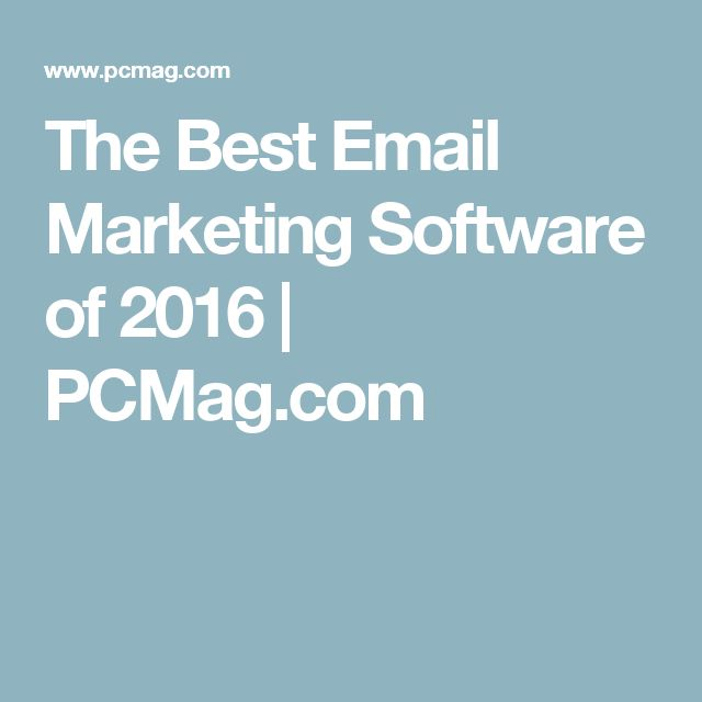 The Best Email Marketing Software of 2016 | PCMag.com