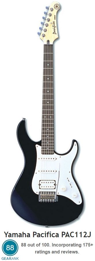 Yamaha Pacifica PAC112J. This is rated as one of the Best Electric Guitars Under…