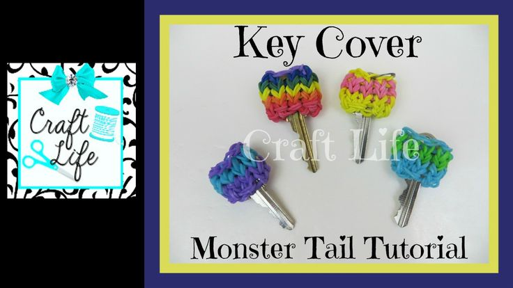 Craft Life Key Cover on a Rainbow Loom Monster Tail