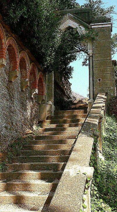 Arenzano Parco Negrotto Cambiaso la scalinata dove in cima alla quale mi sono sposata!!!