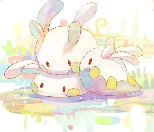 Goomy, my fav dragon type pokemon right now! So cute and squishie!