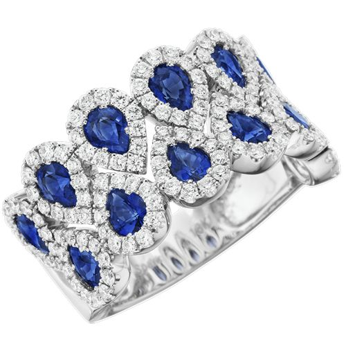 Spark Sapphire and Diamond Ring Creations Fine Jewelers in Napa, CA 707-252-8131
