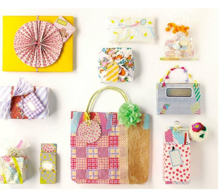 DIY gift wraps. Peppermint Magazine, Winter 14