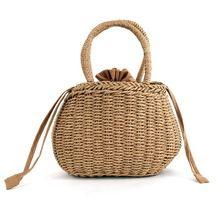 Тройной соломы камень ведро корзина сумка женщины ins жаркое лето шнурок сумка женская сумочка небольшой сладкий корейский вязаный пляжная ...(China (Mainland))