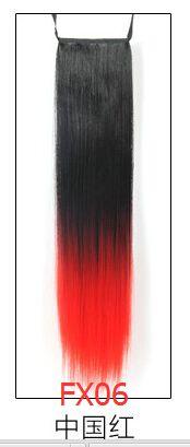 Fs 9 стильный мода женщин хвост синтетический длинные прямые конский хвост волосы расширение парики 20 дюймов двухцветная градиент купить на AliExpress