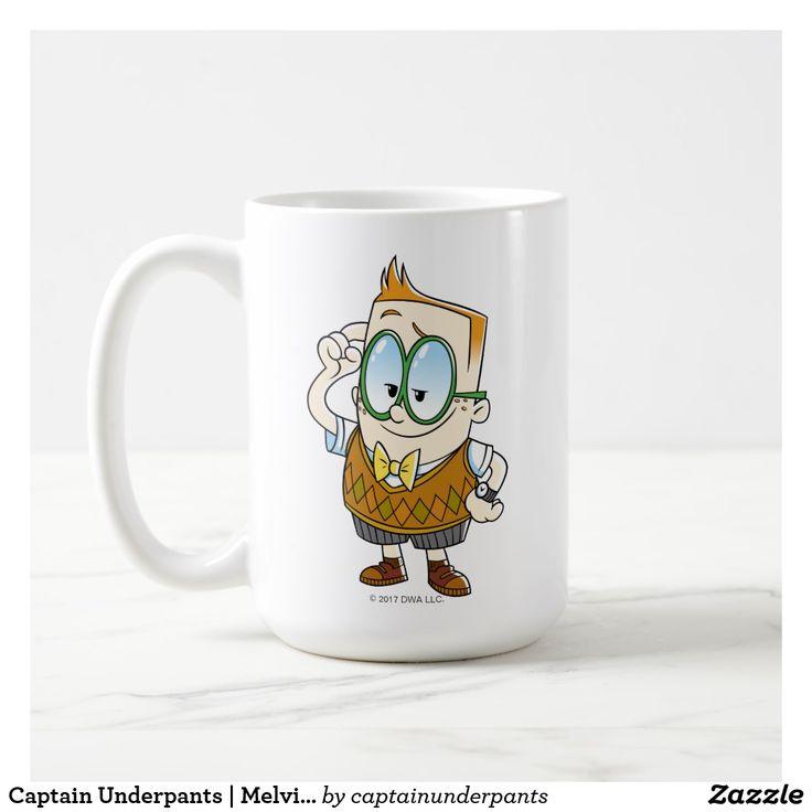 Captain Underpants | Melvin Knows It All. Regalos, Gifts. Producto disponible en tienda Zazzle. Tazón, desayuno, té, café. Product available in Zazzle store. Bowl, breakfast, tea, coffee. #taza #mug