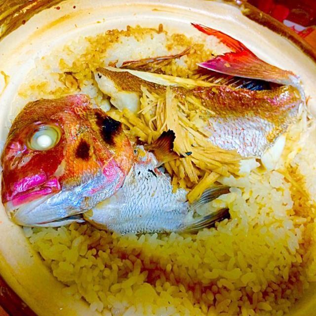 まるごと土鍋で、鯛めし いやはや、美味〜い❗️ - 184件のもぐもぐ - 釣り人料理『鯛めし』 by furyu