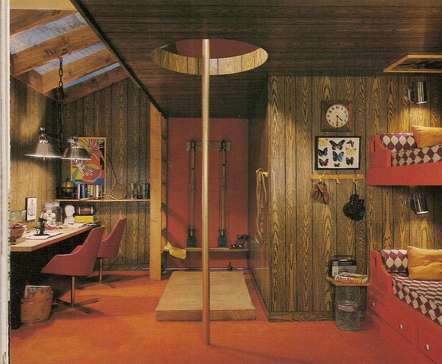 69 best images about 70 39 s interiors on pinterest - The fireman pole apartment an incendiary design ...